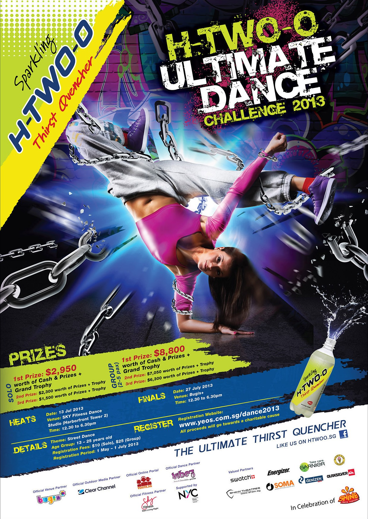 H TWO O Ultimate Dance Challange Poster